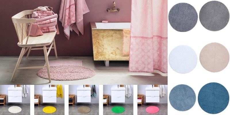 8 runda badrumsmattor i superhärliga färger 2019  751694fe94ded