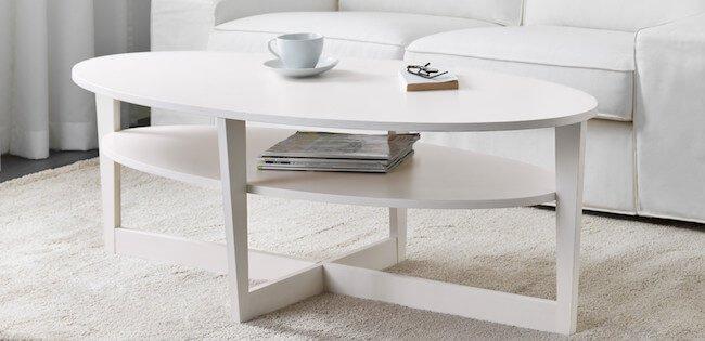 12 snyggt ovala soffbord; i vitt, svart, ek, furu, rotting, u2026 Magnifikk